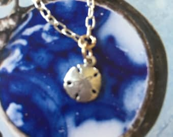 Sterling Silver Dollar Sand Shell Minimalist Pendant with Chain