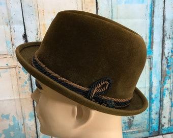 f616454e2f1a7 Vintage Kevin McAndrew Brown Fedora Hat Broadway