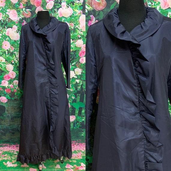 80s Blue Ruffled Coat Princess Coat The Parisian T