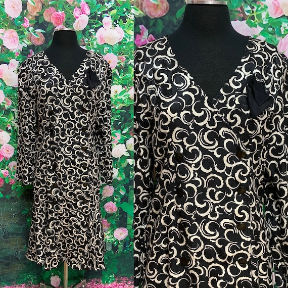 80s Maggie London Black Silk Dress Jeannene Booher