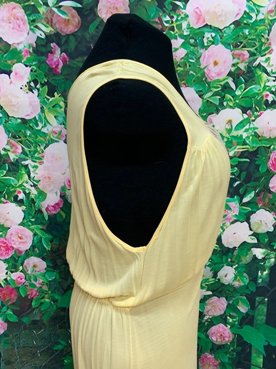 40s Philmaid Yellow Rayon Nightgown Spun Lo Large - image 7