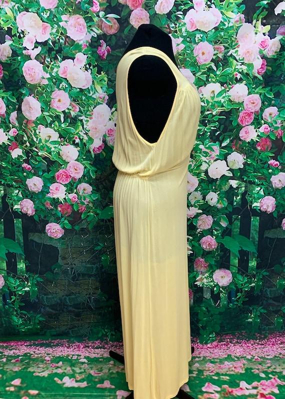40s Philmaid Yellow Rayon Nightgown Spun Lo Large - image 6