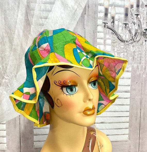 60s Reemay Paper Sun Hat Disposable Novelty Bucket