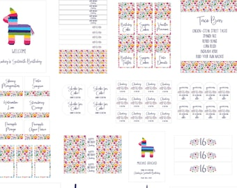 FIESTA FOREVER Complete Party Kit : By Bloom Designs
