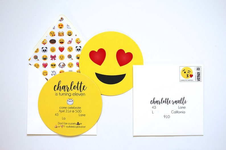 Emoji Invitation Emoji Party by Bloom image 0
