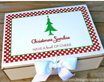 Christmas Sundae Kit Printables