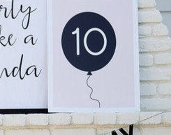 Balloon Poster with Ages