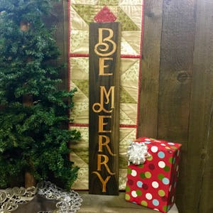 be merry rustic weathered wood sign christmas decoration sentiment cheer ornament cabin style carved engraved barn wood decor - Cabin Style Christmas Decorations