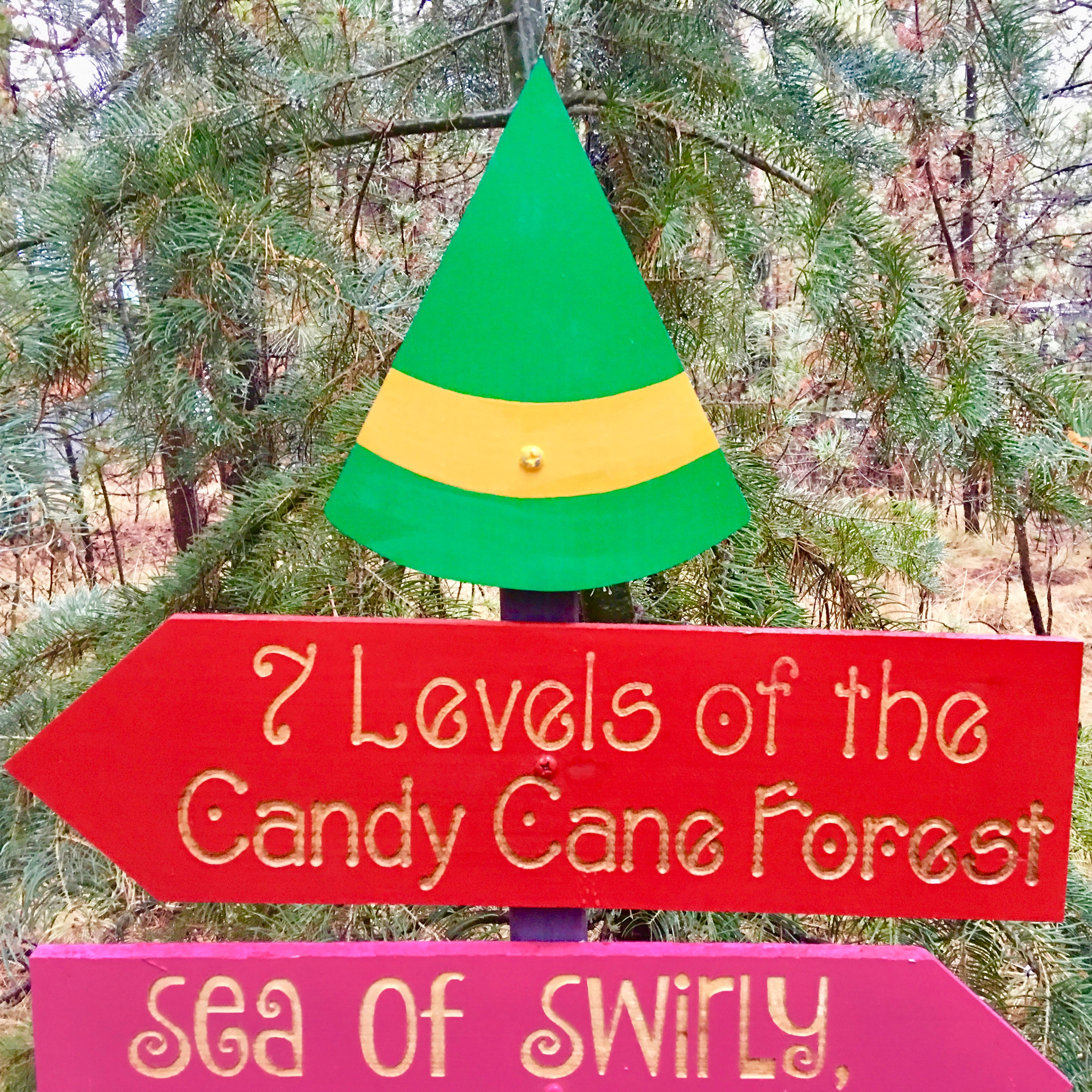 Elf Christmas Movie Directional Sign Holiday Yard Decoration - Buddy ...