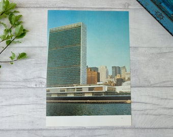 United Airlines New York United Nations Travel Poster A3 A2 Reprint