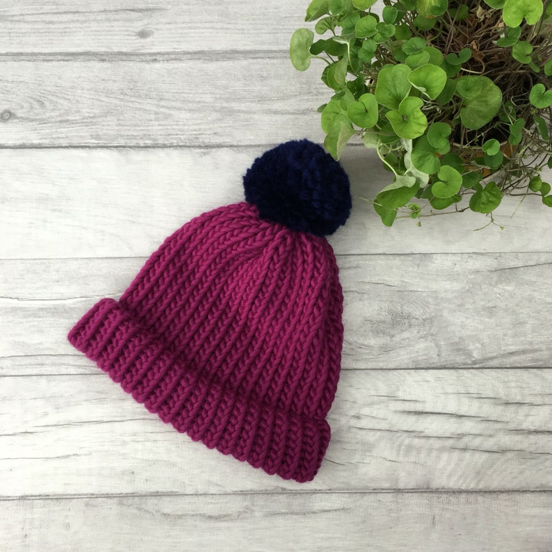 fd143f73b Merino wool hat knitted hat in purple for men women child - available in a  variety of different sizes - FREE SHIPPING