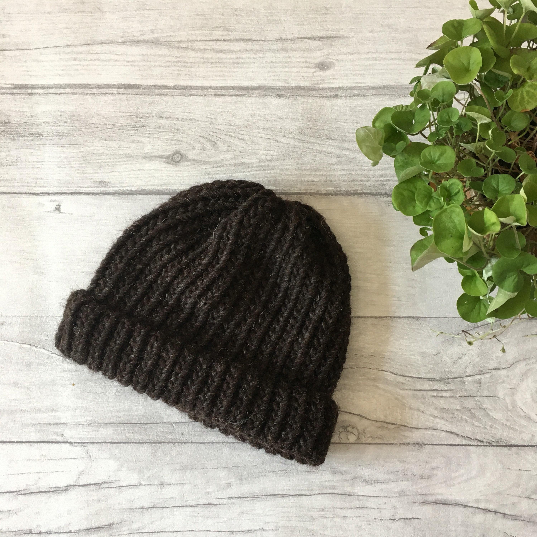 8a99bcc831f Shetland wool fisherman beanie hat gift for men hiking mens