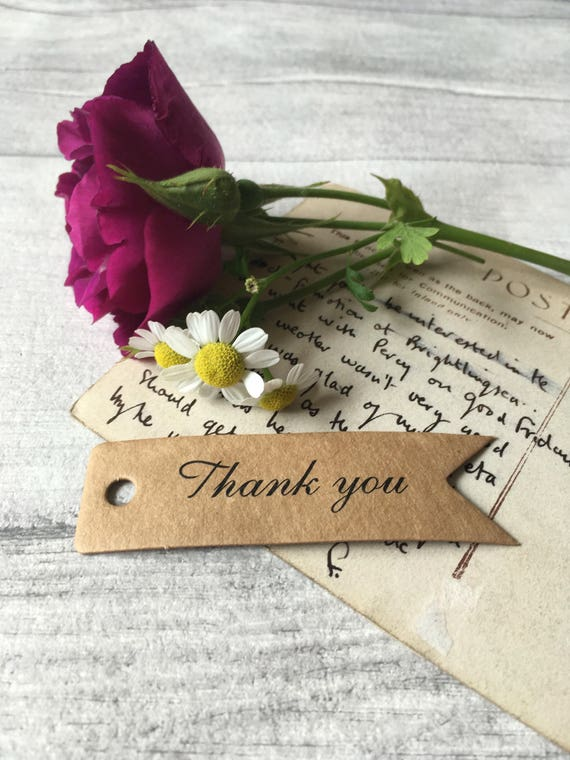 Thank You Labels Favor Decorations Wedding Favors Brown Kraft Wedding or Bridal Shower Personalized Round 2 Favor Stickers
