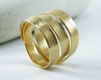 Gold wrap ring handmade ring alternative wedding ring