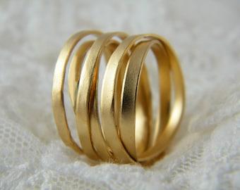Wrapped ring gold handmade ring alternative wedding ring