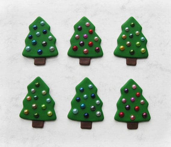 Polymer Clay Christmas Tree.Christmas Tree Fridge Magnet From Polymer Clay Christmas Tree With Baubles Refrigerator Magnet Housewarming Gift Christmas Gift