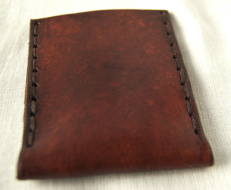 Brown or Turquoise By GreenEternity Handmade Leather Card Holder with Celtic Design In Green