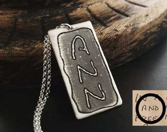Sterling Silver Engravable Rectangle Front Satin Back Disc Charm Pendant Bracing Up The Whole System And Strengthening It Jewelry & Watches