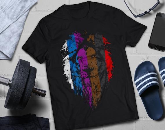 d3c6eb4e BJJ Belt Rank Lion Face Shirt for Jiu Jitsu Unisex short | Etsy