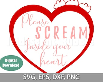 Please scream inside your heart, Japanese roller coaster rules, covid19, svg, png, dxf, eps Cut Files, Download, For Cricut or Silhouette