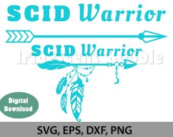 SCID Warrior digital file, svg, png, dxf, Cut Files, Download, For Cricut or Silhouette or laser