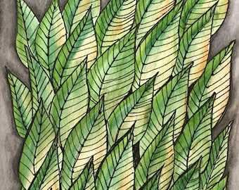Leaves - Original Watercolor Painting