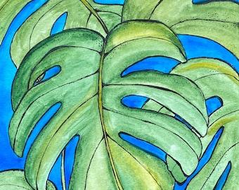 Monstera - Original Watercolor Painting
