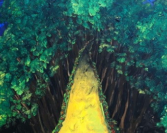 """Original Acrylic on Canvas - Into the Woods - 18"""" x 24"""""""