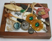 Lot of Vintage Crafting Items for Altered Art