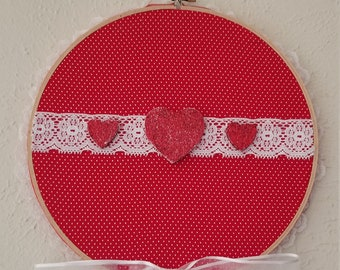 """9"""" Valentine's Day Embroidery Hoop Wall Hanging"""