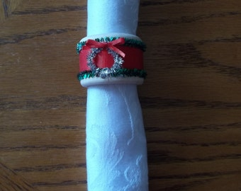 Christmas Napkin Rings - S/4