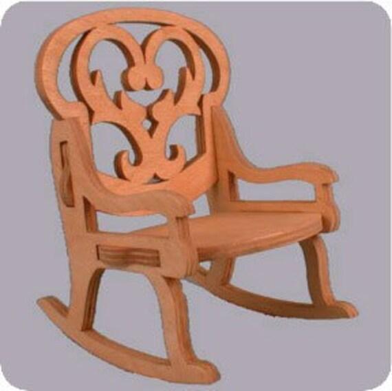 Dolly Rocking Chair Scroll Saw Pattern DP11-27 Woodcraft Pattern Scroll Saw Patterns Woodworking Plan