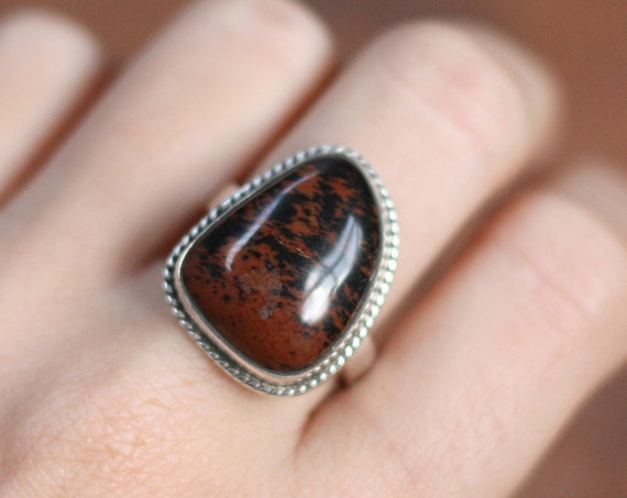 MAGIC JASPER RING - Agate Unisex Ring - Adjustable - Sterling silver Crystal ring - Healing Crystal Bespoke Ring - One size - Semi precious