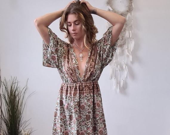GRECIAN GODDESS DRESS - Backless - Multi Tie - Vintage Style - Bohemian Wedding - Greek - Maternity - Breast feeding - Free size - Winter