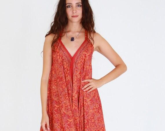 WIDE LEG JUMPSUIT - Multi way jumpsuit - Vintage Silk -  Playsuit - Casual - Bespoke - Travel - Maxi Dress - Harem - Flare Jumpsuit Hippie