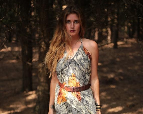 INDIAN FLOWER DRESS - Summer dress - Vintage Style - Sari dress - Indian Dress - Upcycle - Eco Fashion - Beach - Hippie - Sale - Maxi