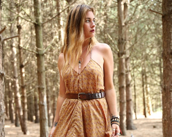 FLORAL MAXI DRESS - Summer dress - Vintage Style - Sari dress - Indian Dress - Upcycle - Eco Fashion - Beach - Hippie - Wedding - Festival