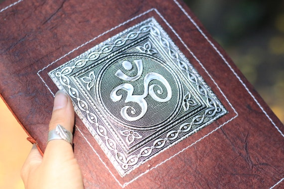 OM JOURNAL- Embossed Journal - Vegan - Notebook - Sketchbook - Dream Journal - Travel Journal - Scrapbook - Memory book - Photo Album