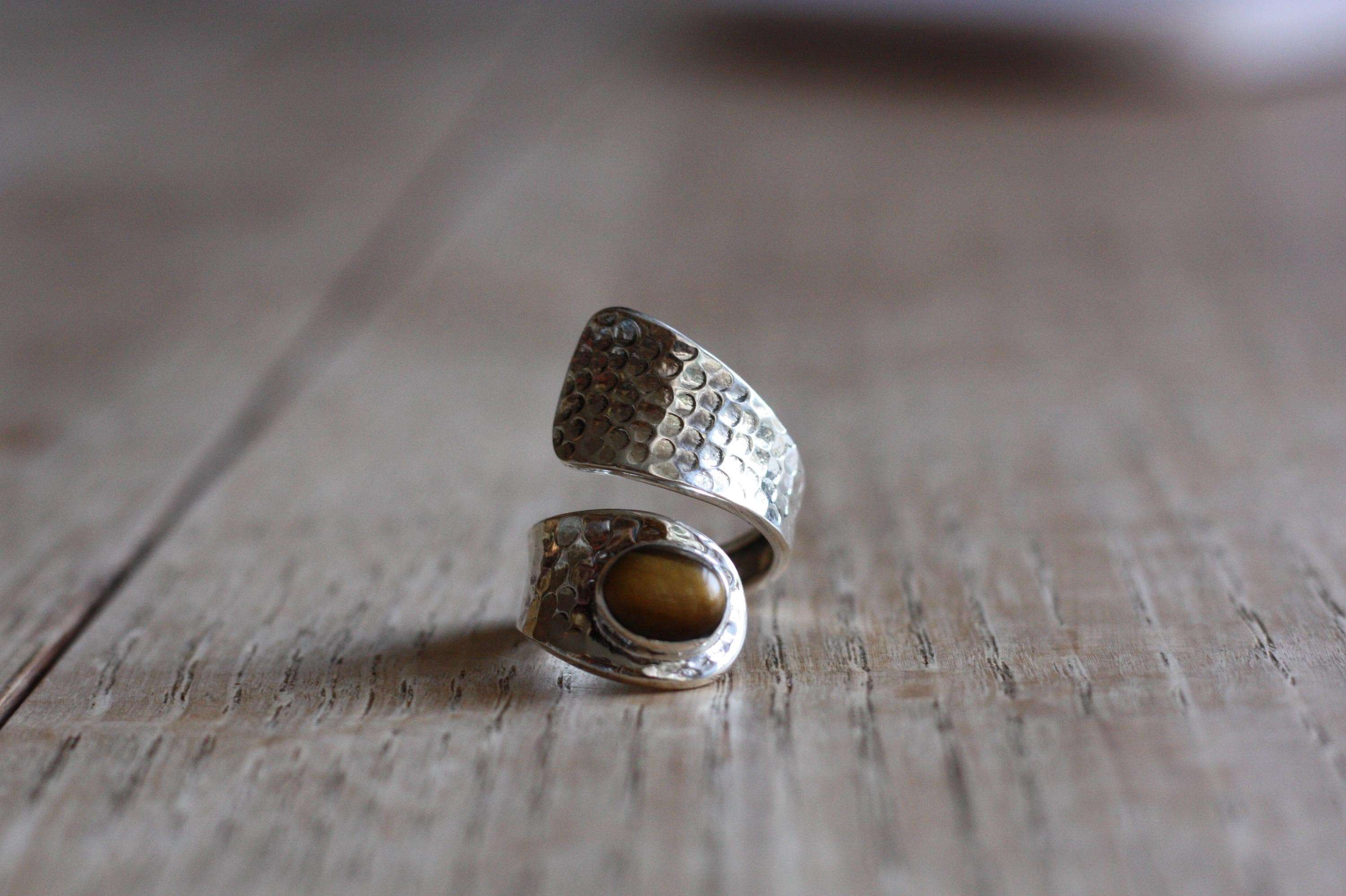 Finland Handmade Gorgeous Tiger Eye Designer Ring Fine Rings Jewelry & Watches