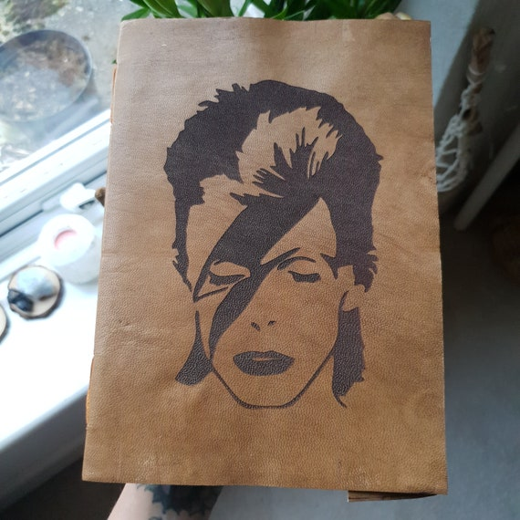ZIGGY STARDUST JOURNAL - David Bowie - Vintage Leather Notebook - Sketch Book - Photo Album - Laser cut - Icon - Memory Book - Planner -