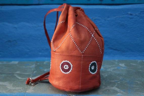 SMALL NAVAJO BAG - Vintage Shoulder bag - Aztec - Bohemian - Tribal - Bucket Bag - Satchel - Bespoke - Autumn - 70's - 60's - Christmas