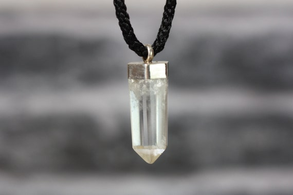 STERLING SILVER PENDANT - Chunky Quartz necklace - Crystal Necklace - Bespoke - Rare - Gift - Necklace - Handmade - Crystal pendant