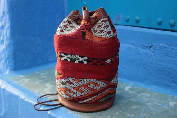 VINTAGE CARPET BAG - Bucket Bag - Ethnic Rug - Bohemian - Duffle - Print - Vintage Shoulder bag - Satchel - Bespoke - Unique Bag - Tribal