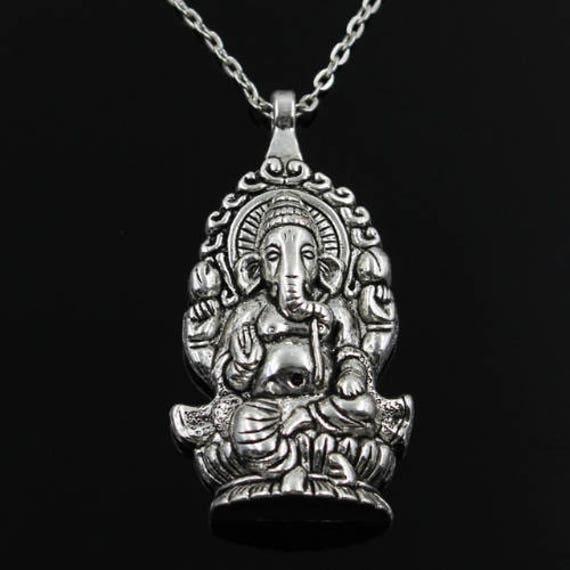 GANESH NECKLACE - Vintage Jewellery - Vintage Necklace - Indian - Spiritual Jewelry - Ganesha - Buddha - Buddha Necklace - Gift - Yoga
