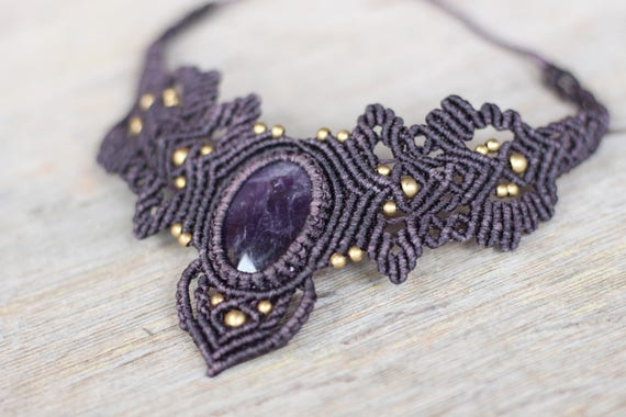 AMETHYST CRYSTAL NECKLACE - Gemstone - Gift - Crystal Choker - Chakra Necklace - Healing Crystal Jewellery - Bespoke - Gemstone - Beaded