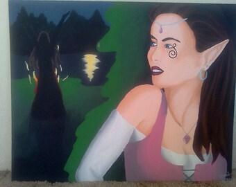 "Original painting ""Protection"""
