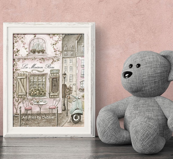 La Maison Shabby Chic.Paris Decor Vintage Paris La Maison Rose Personalized Baby Etsy