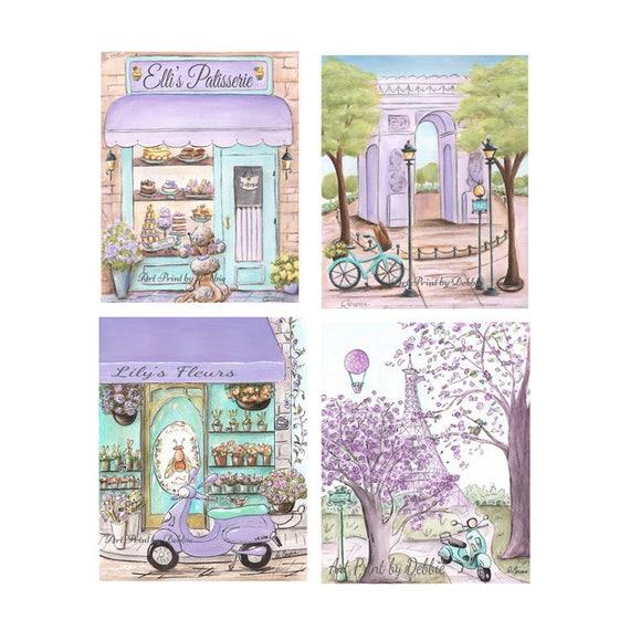 Wonderful Paris Bedroom Decor Lavender Purple Teal Paris Themed Nursery   Etsy
