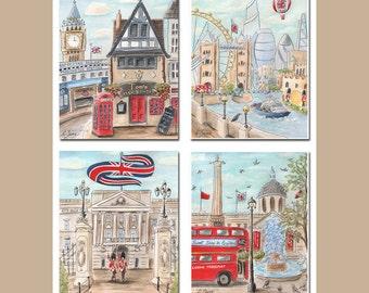 Travel Theme Nursery, Paddington Bear, Personalized Gift For Boy, Best Boy Gift Idea, London Nursery Wall Art, Big Ben, London Baby Gray Red