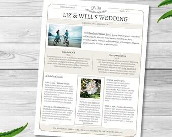 Family Newsletter Etsy - Wedding newsletter template